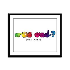 Got ASL? Rainbow CC Framed Panel Print