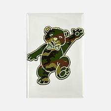Camo Teddy Bear Rectangle Magnet