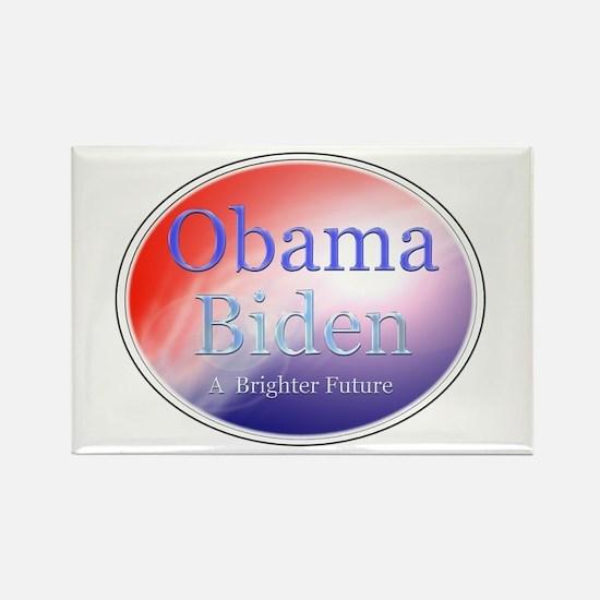 Obama Biden A Brighter Future Oval Rectangle Magne