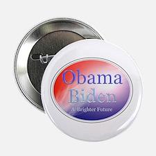 """Obama Biden A Brighter Future Oval 2.25"""" Butt"""