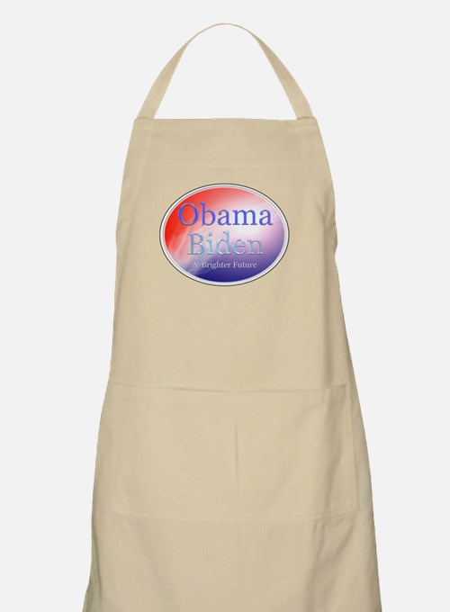 Obama Biden A Brighter Future Oval BBQ Apron