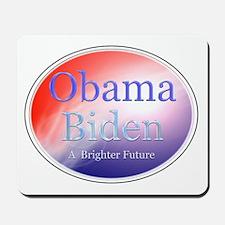 Obama Biden A Brighter Future Oval Mousepad