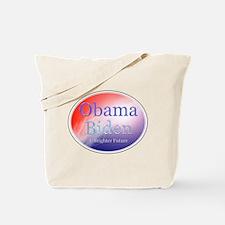 Obama Biden A Brighter Future Oval Tote Bag
