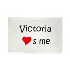 Victoria name Rectangle Magnet (10 pack)