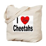 I Love Cheetahs for Cheetah Lovers Tote Bag