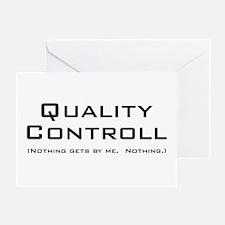 Q Controll Greeting Card