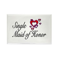 Single Maid Of Honor Rectangle Magnet