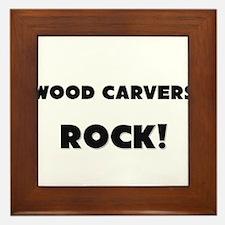 Wood Carvers ROCK Framed Tile