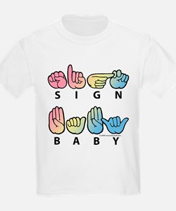Captioned SIGN BABY SQ T-Shirt
