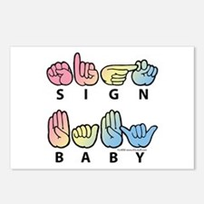 Captioned SIGN BABY SQ Postcards (Package of 8)