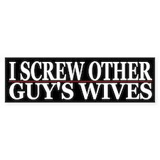 Cheating Wife Girlfriend Slut Bumper Car Sticker