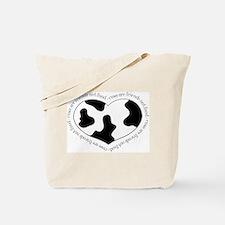 Cow Print Heart Tote Bag