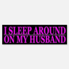 Cheating Wife Girlfriend Slut Bumper Car Car Sticker