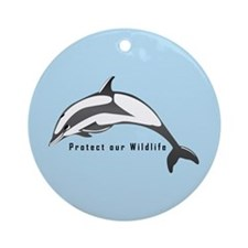 Protect Wildlife Ornament (Round)