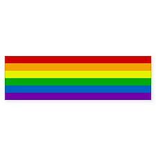 Rainbow Bumper Car Sticker