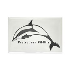 Protect Wildlife Rectangle Magnet