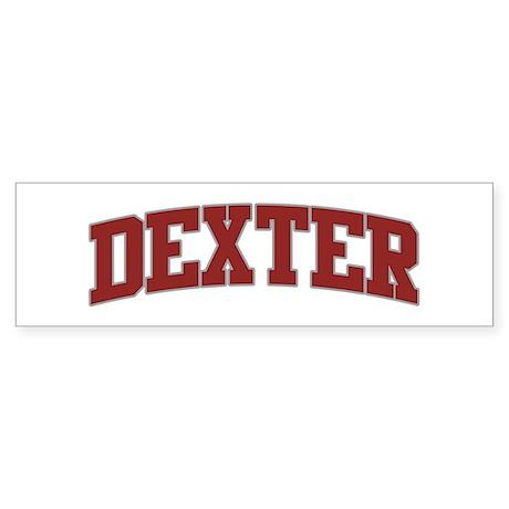 DEXTER Design Bumper Sticker