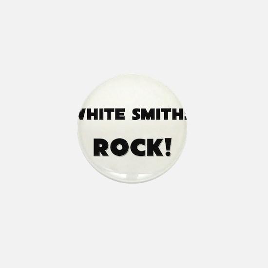 White Smiths ROCK Mini Button