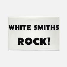 White Smiths ROCK Rectangle Magnet