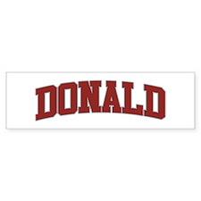 DONALD Design Bumper Bumper Sticker