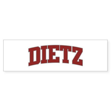 DIETZ Design Bumper Sticker