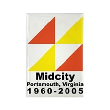 Cute Midcity Rectangle Magnet