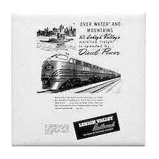 Lehigh Valley Railroad Tile Coaster