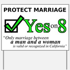 Funny Traditional marriage Yard Sign