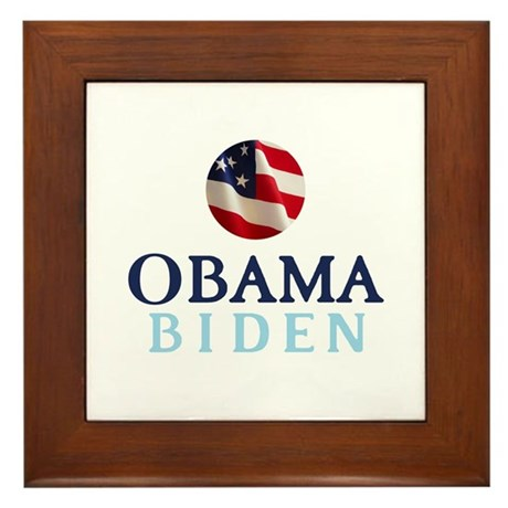 Obama / Biden Framed Tile