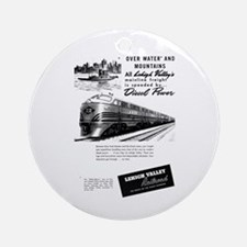 Lehigh Valley Railroad Ornament (Round)