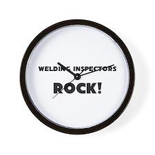 Welding Inspectors ROCK Wall Clock