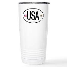 USA Euro-style Country Code Travel Mug