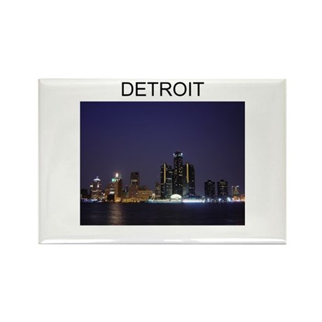 DETROIT CITY 2 Rectangle Magnet