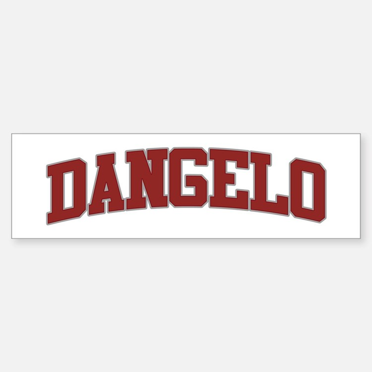 DANGELO Design Bumper Bumper Bumper Sticker