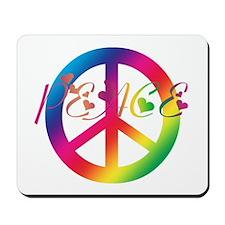 Peace Tie-Dye Mousepad