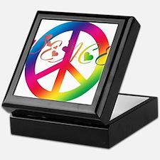 Peace Tie-Dye Keepsake Box