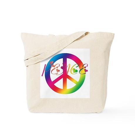 Peace Tie-Dye Tote Bag
