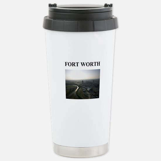 fort worth gifts and t-shirts Stainless Steel Trav