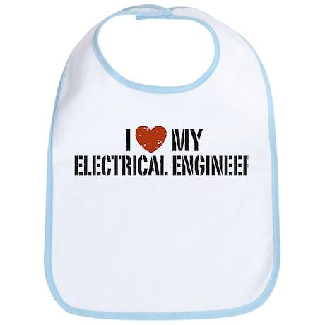 I Love My Electrical Engineer Bib