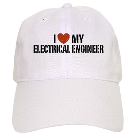 I Love My Electrical Engineer Cap