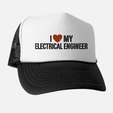 I Love My Electrical Engineer Trucker Hat