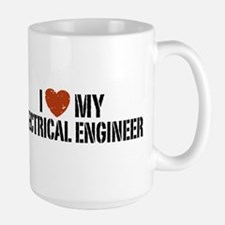 I Love My Electrical Engineer Large Mug Mugs