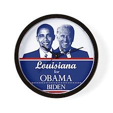 Louisiana for Obama Wall Clock