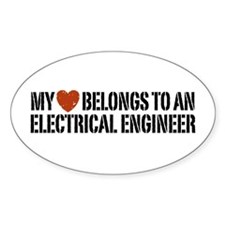 My Heart Belongs to an Electrical Engineer Decal
