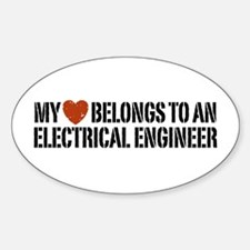 My Heart Belongs to an Electrical Engineer Decal