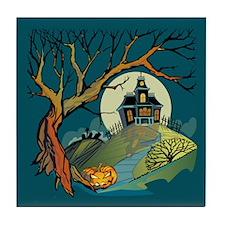Spooky Haunted House Tile Coaster