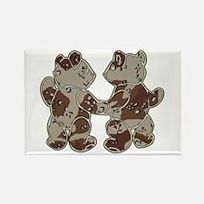 Kid Bears Desert Camo Rectangle Magnet