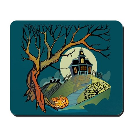 Spooky Haunted House Mousepad