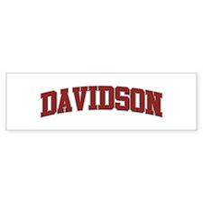 DAVIDSON Design Bumper Bumper Sticker