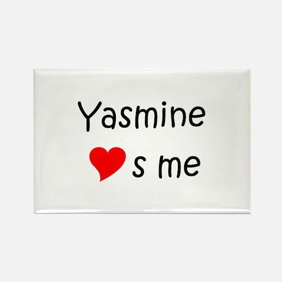 Funny Yasmine Rectangle Magnet